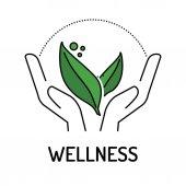 WELLNESS Line icon vector illustration
