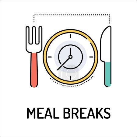 MEAL BREAKS Line icon
