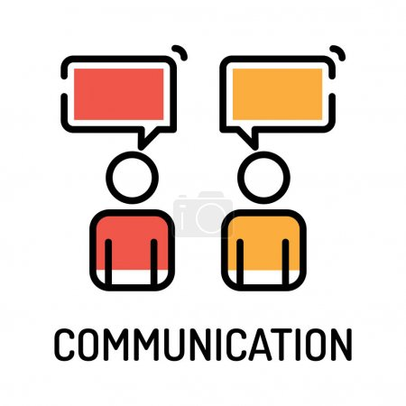 Illustration for COMMUNICATION Concept. Vector illustration - Royalty Free Image