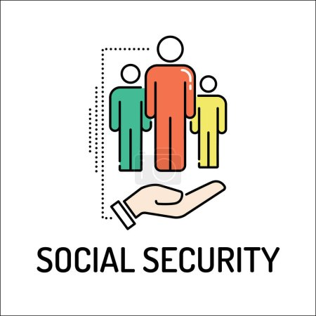 SOCIAL SECURITY Line icon