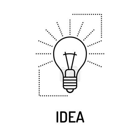 Illustration for IDEA Line icon. Vector illustration - Royalty Free Image