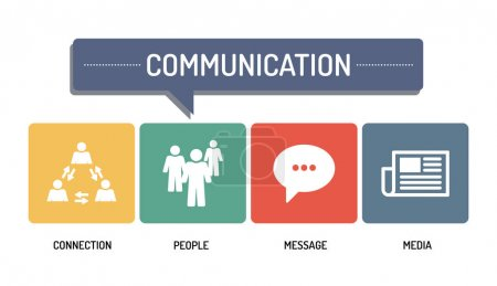 Illustration for COMMUNICATION - ICON SET. Vector illustration - Royalty Free Image