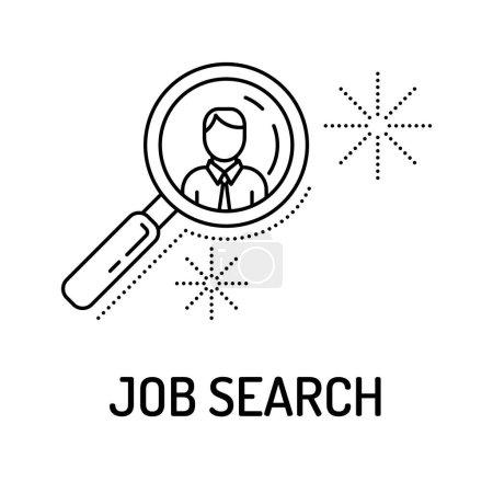 Job Search Line Icon