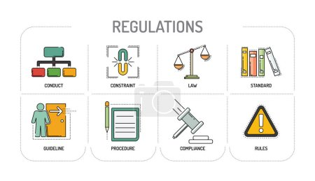 REGULATIONS - Line icons