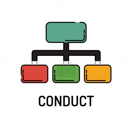 Illustration for CONDUCT Line icon. Vector illustration - Royalty Free Image