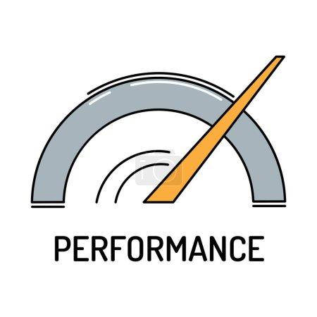 Illustration pour Icône Performance Line. Illustration vectorielle - image libre de droit