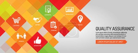 Illustration for Quality Assurance banner, vector illustration - Royalty Free Image