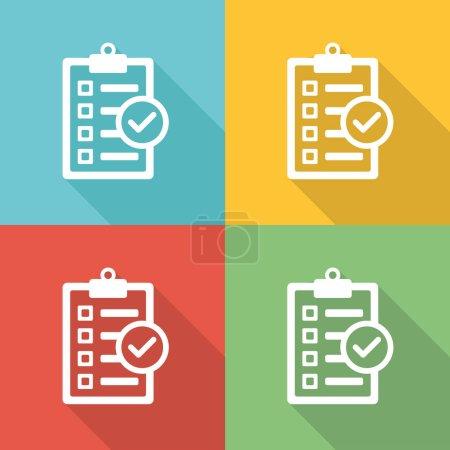 Goals Flat Icon Concept
