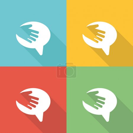 Illustration for Volunteer Work Flat Icon Concept - Royalty Free Image