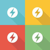 Power Industry Flat Icon Concept  Vector illustration