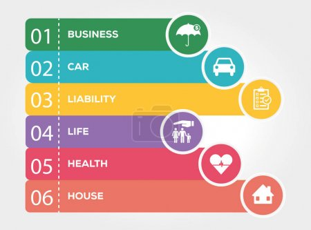 Illustration for Insurance Infographic Concept. Vector illustration - Royalty Free Image