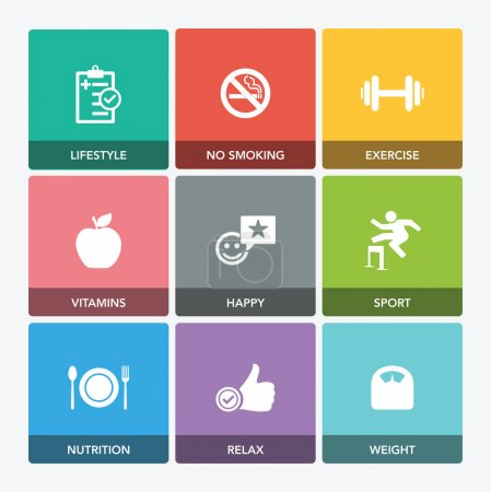 HEALTHY LIVING ICON SET