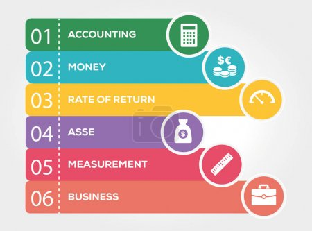 Illustration for Cash Flow Infographic Concept. Vector illustration - Royalty Free Image