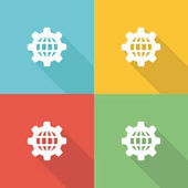 Automation Flat Icon Consept