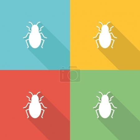 Bugs Flat Icon Concept