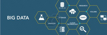 Illustration for Big Data Icon Concept. Vecor illustration - Royalty Free Image