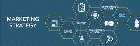 Illustration for Marketing Strategy Icon Concept. Vecor illustration - Royalty Free Image
