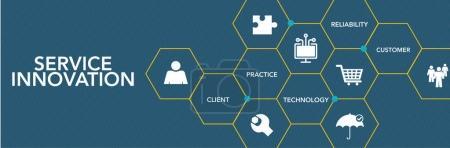 Service Innovaton Icon Concept
