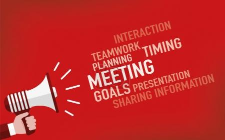 Illustration for Meeting Concept. Vector illustration - Royalty Free Image