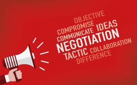 Illustration pour Concept de négociation. Illustration vectorielle - image libre de droit
