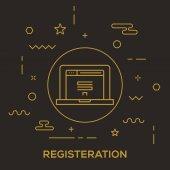 Online Registeration Concept