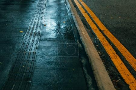 asphalt with road marking