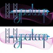 Vector Hyperloop Lettering Illustration
