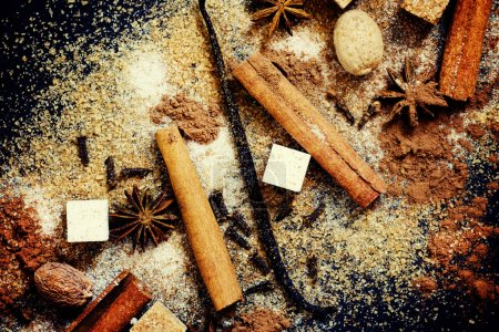 Winter Christmas spices for mulled wine and hot drinks