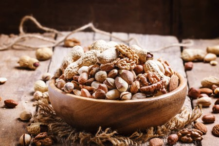 Nuts mix in a bowl