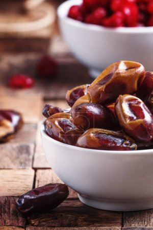 Sweet dates in bowl