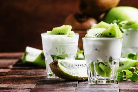 Kiwi fruit with creamy yogurt