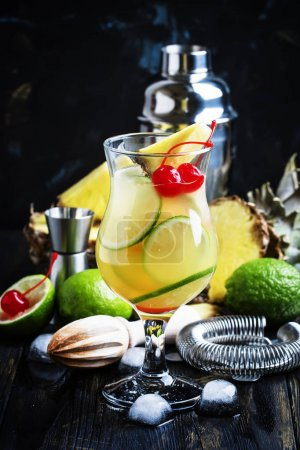 Alcoholic cocktail pisco punch