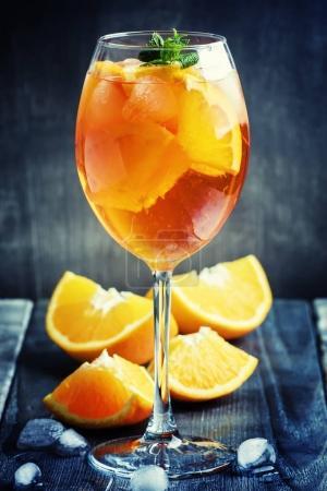 Alcohol cocktail with orange juice