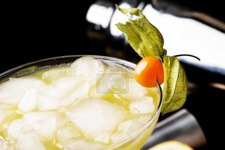 Alcohol cocktail winter passion fruit