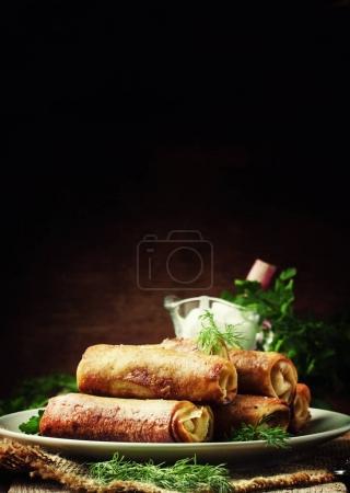 Savory fried pancakes