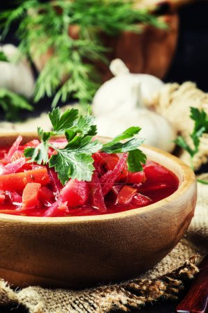 Vegetable soup with beets