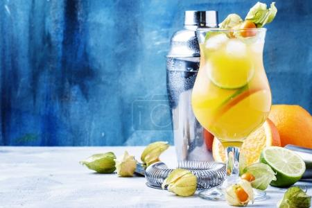 Alcoholic cocktail summer breeze