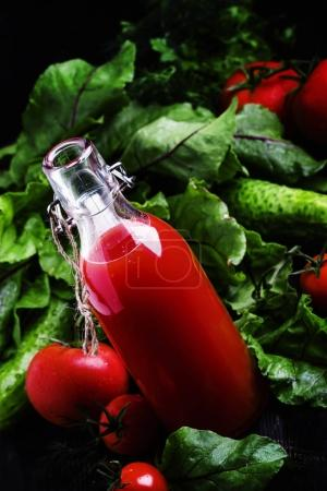 Vegetable juice from tomatoes