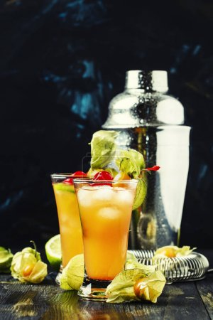 Alcohol cocktail with juice