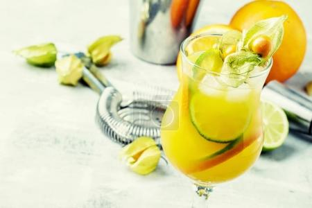 Summer Citrus alcoholic cocktail