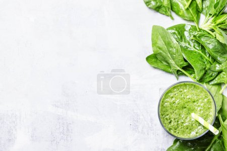 Spinach smoothies, food background
