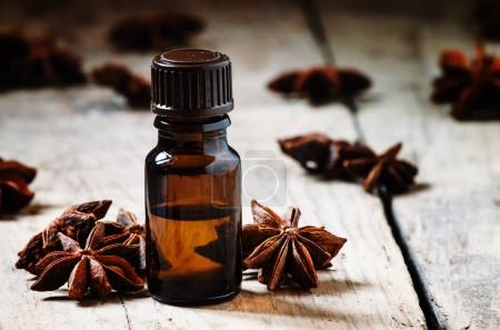 Essential oil of anise, selective focus