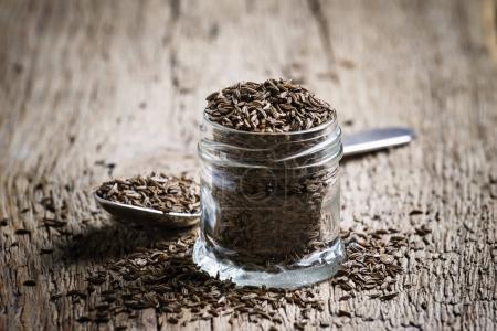 Caraway grain, selective focus