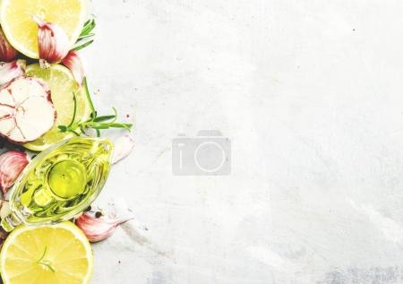 Food background, top view