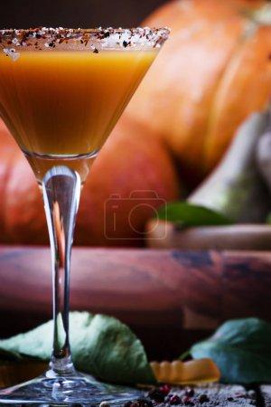 Halloween orange cocktail