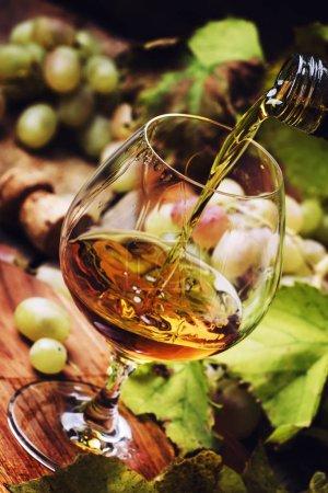 Cognac Pour In Glass