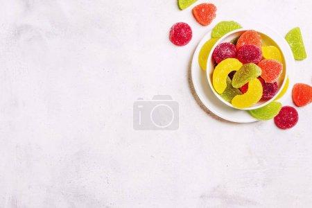 Multicolored jelly marmalade