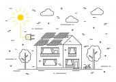 Sun electricity house