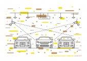 Video surveillance parking vector concept