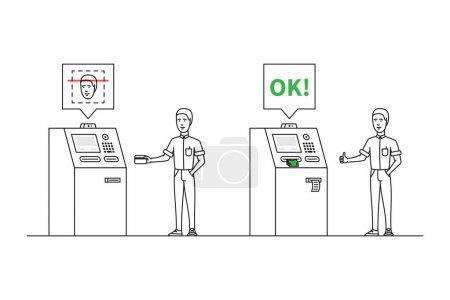 ATM identification system vector illustration